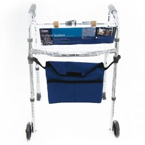 Accessoires pour marchettes :  patins, roues, panier ou sac