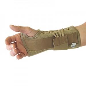 Orthèse du poignet préfabriquée en tissu
