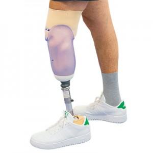 Prothèse tibiale modulaire  avec suspension en silicone