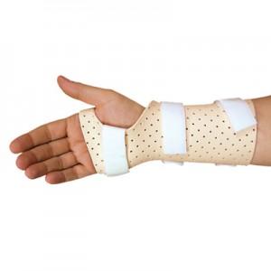 Orthèse du poignet en plastique moulé