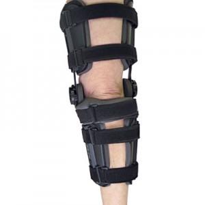 Orthèse du genou postopératoire avec degrés ajustables