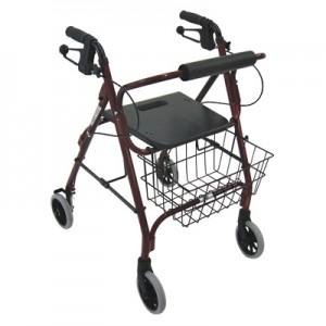 Ambulateur de luxe avec siège, freins et panier
