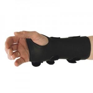 Orthèse du poignet en cuir semi-flexible